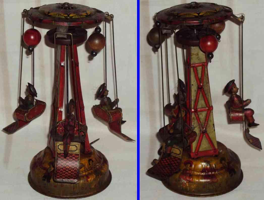 Karussell aus Weissblech mit Uhrwerk