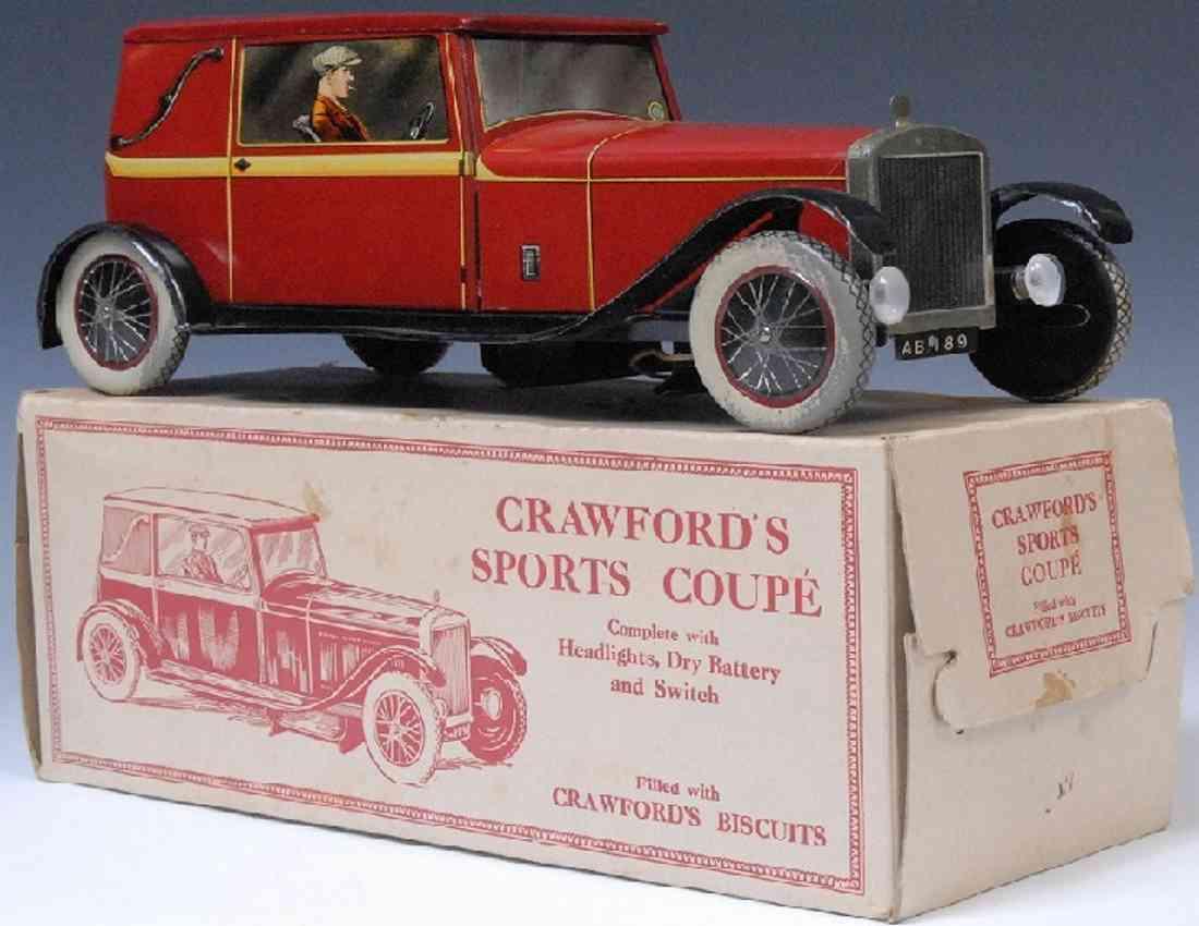 crawford william & sons keksdosen limousine in rot als keksdose