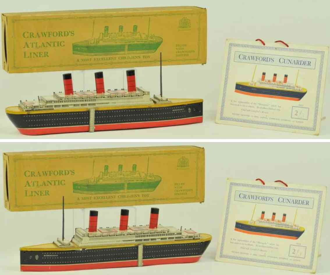 crawford william & sons tin toy ship atlantic liner berengeria