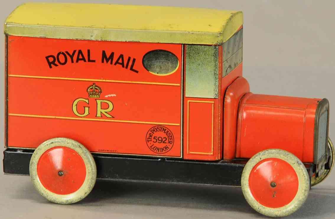 blech postwagen als keksdose royal mail gr postmaster 592 london