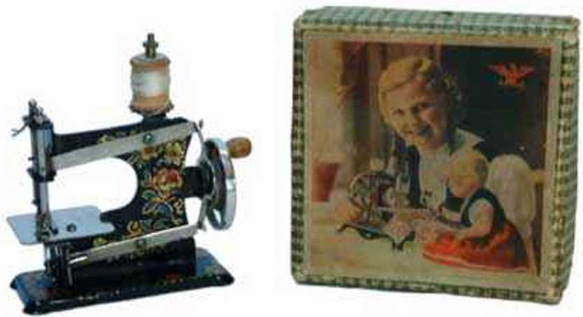 casige 0 kindernaehmaschine nähmaschine mit karton mit dem casige adler, eisenblech, gew