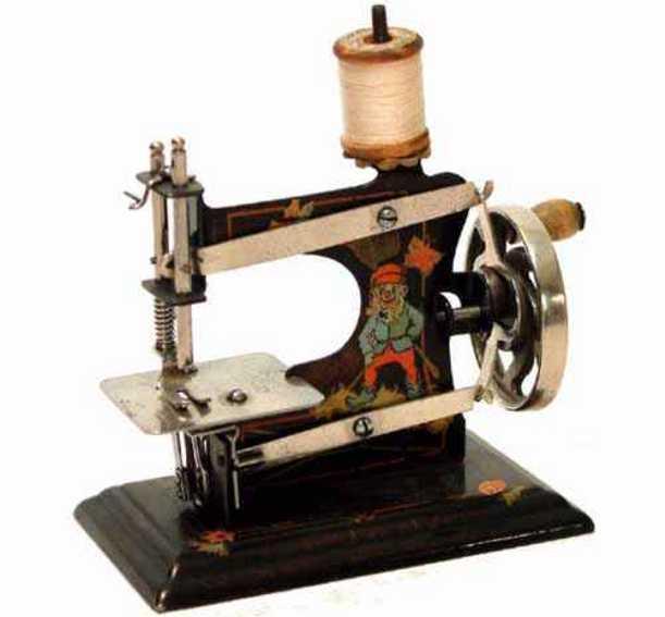 casige 0 kindernaehmaschine nähmaschine; karton mit dem casige adler und gedoppelter han