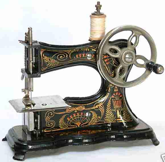casige 2 kindernaehmaschine kindernähmaschine aus gußeisen mit handrad vorne und tischkl