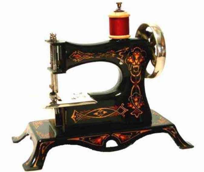 casige 2/neu kindernaehmaschine mit stilisiertem blumendekor
