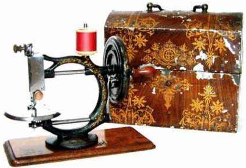 hensel f. Flora kindernaehmaschine nähmaschine, der abgriff für die unterwelle wird innen am ha