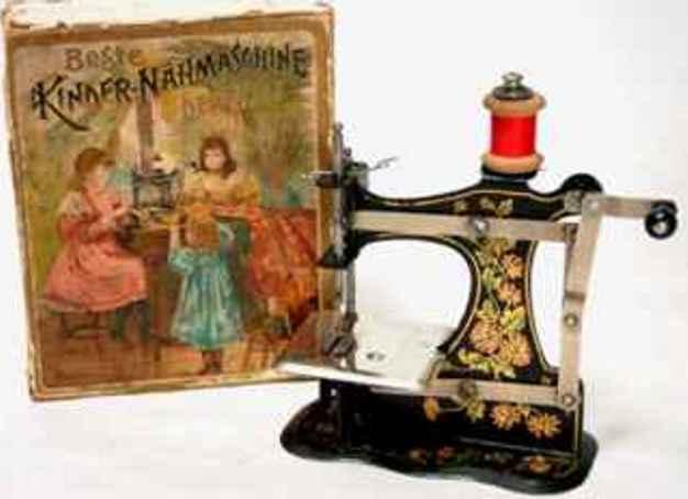 mueller fw 1 kindernaehmaschine die erste müller nr.1 mit blumendekor, stoffobertransport, s