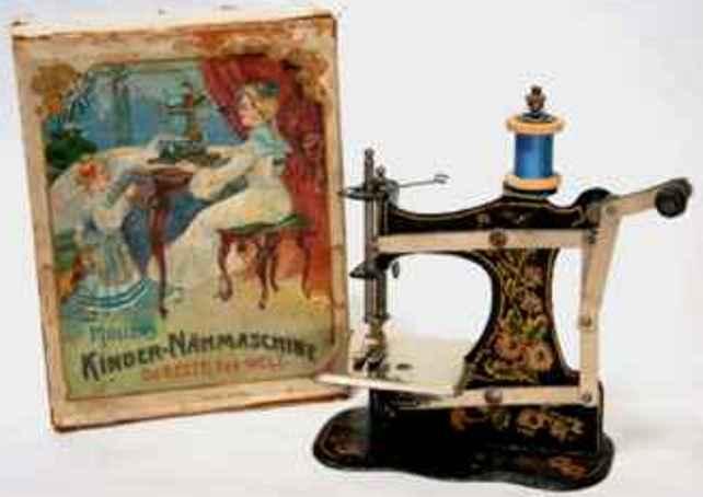 mueller fw 1 kindernaehmaschine nähmaschine mit blumendekor, stoffuntertransport mit verschi