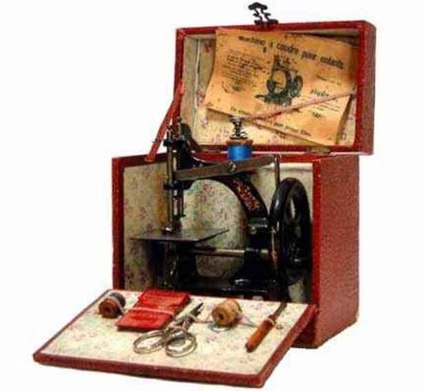 mueller fw 10/alt kindernaehmaschine nähmaschine in einer kiste für den französischen markt