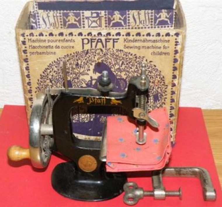 pfaff g.m. kindernaehmaschine kinder-nähmaschine in schwerer guß-ausführung und original k