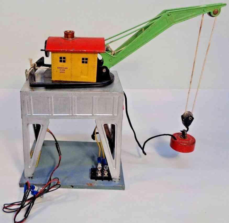 american flyer toy company 583 railway toy electromagnetic gantry crane