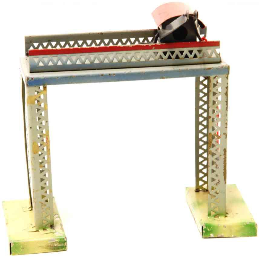 kibri 0/82/1 1949 railway toy loading bridge with simple crane