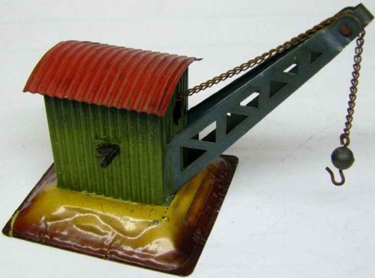 kraus-fandor 2070 railway toy crane corrugated iron house