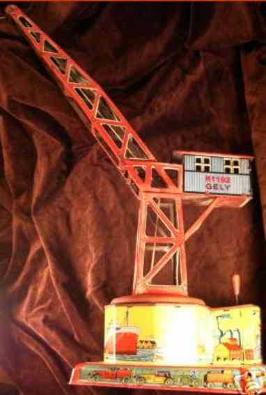 levy george gely 192 railway toy crane mechanical harbor crane on base