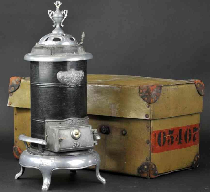 simmons wilson pressed steel die-cast toy salesman sample heating stove