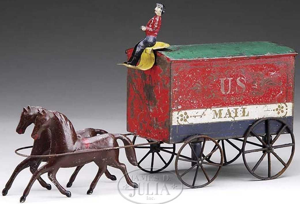 Althof Bergmann & C0 U.S. MAIL Lieferkutsche mit zwei Pferden