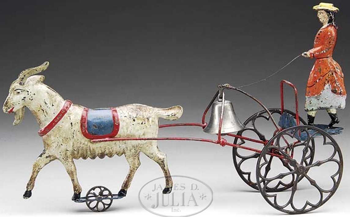 Althof Bergmann & C0 Kutsche mit Dame und Glocke gezogen von einer Ziege