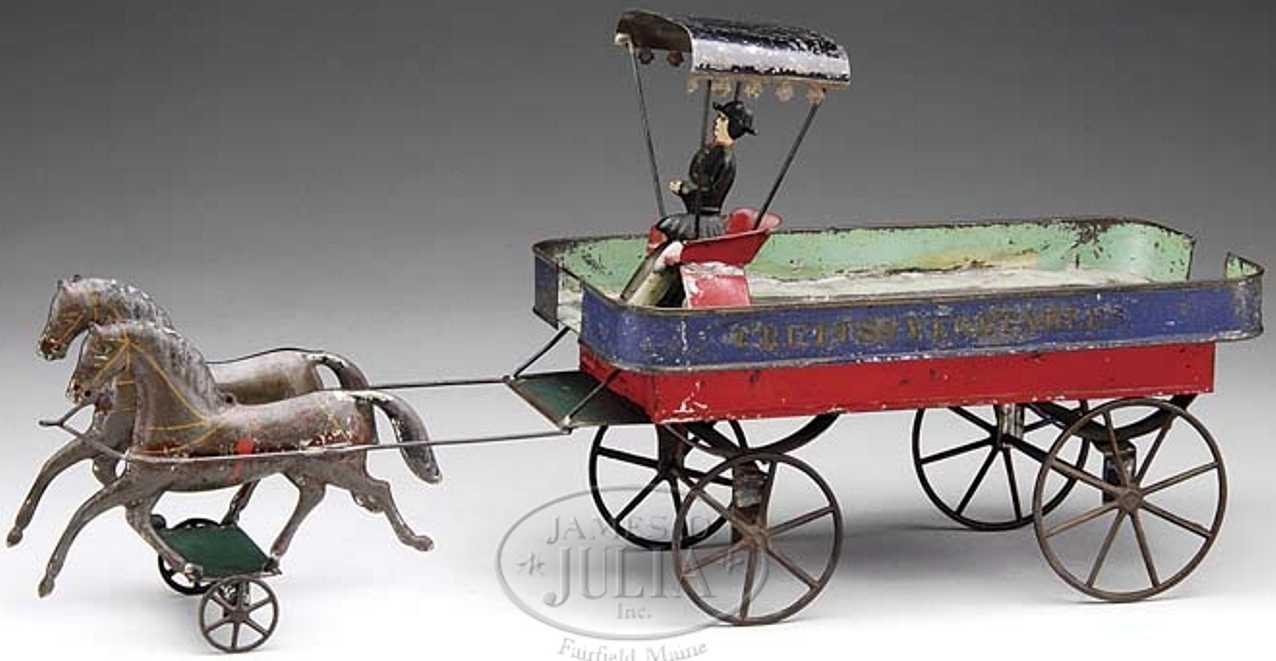 Althof Bergmann & C0 Offene Kutsche mit Fahrer und zwei Pferden für Obst und Gemüse