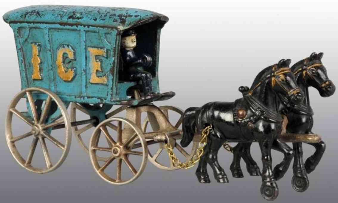 Arcade Gusseiserne Eiskutsche mt zwei Pferden