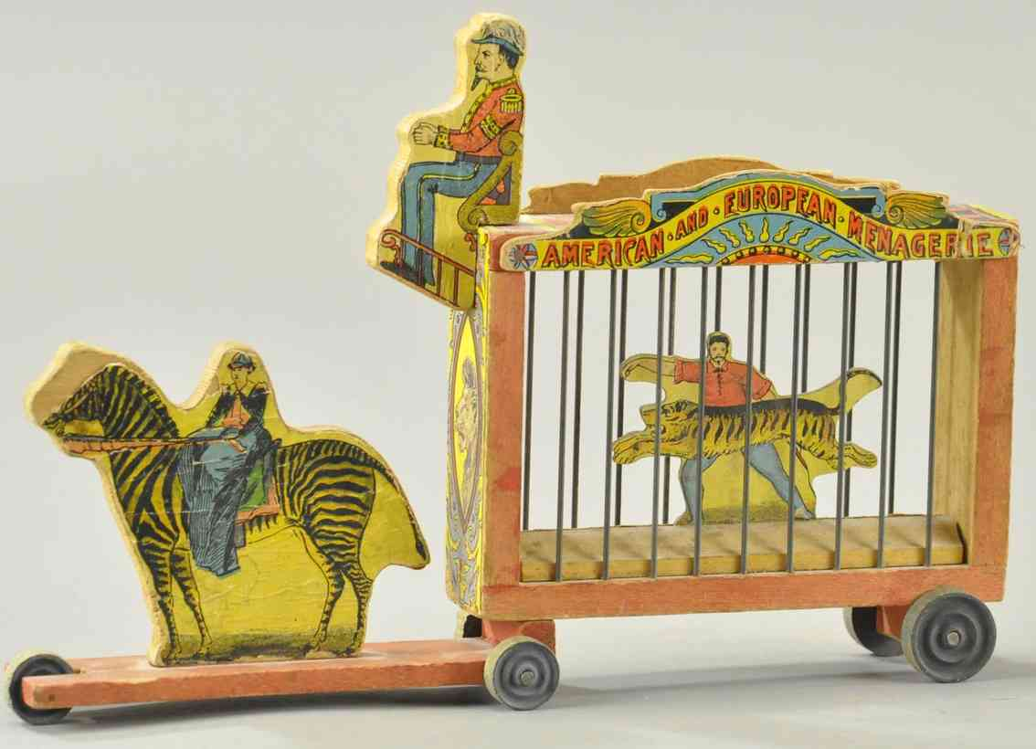 bliss rufus holz spielzeug kutsche zirkuswagen tiger