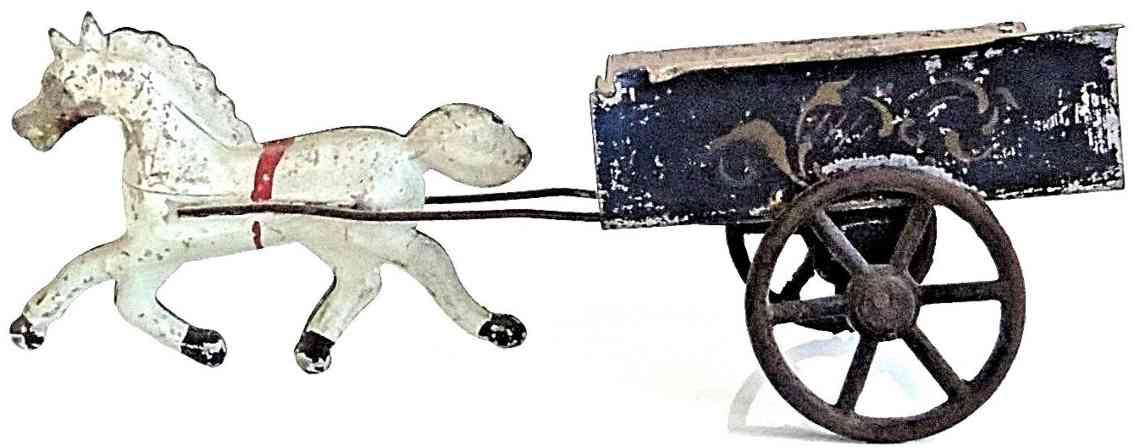 brown george blech spielzeug karre ein weisses pferd