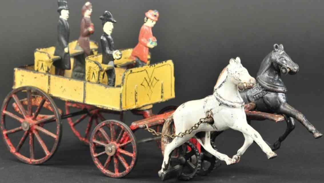 carpenter spielzeug gusseisen kutsche zwei pferde