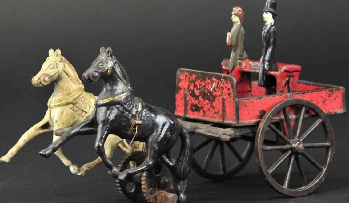 carpenter spielzeug gusseisen kutsche zwei pferd