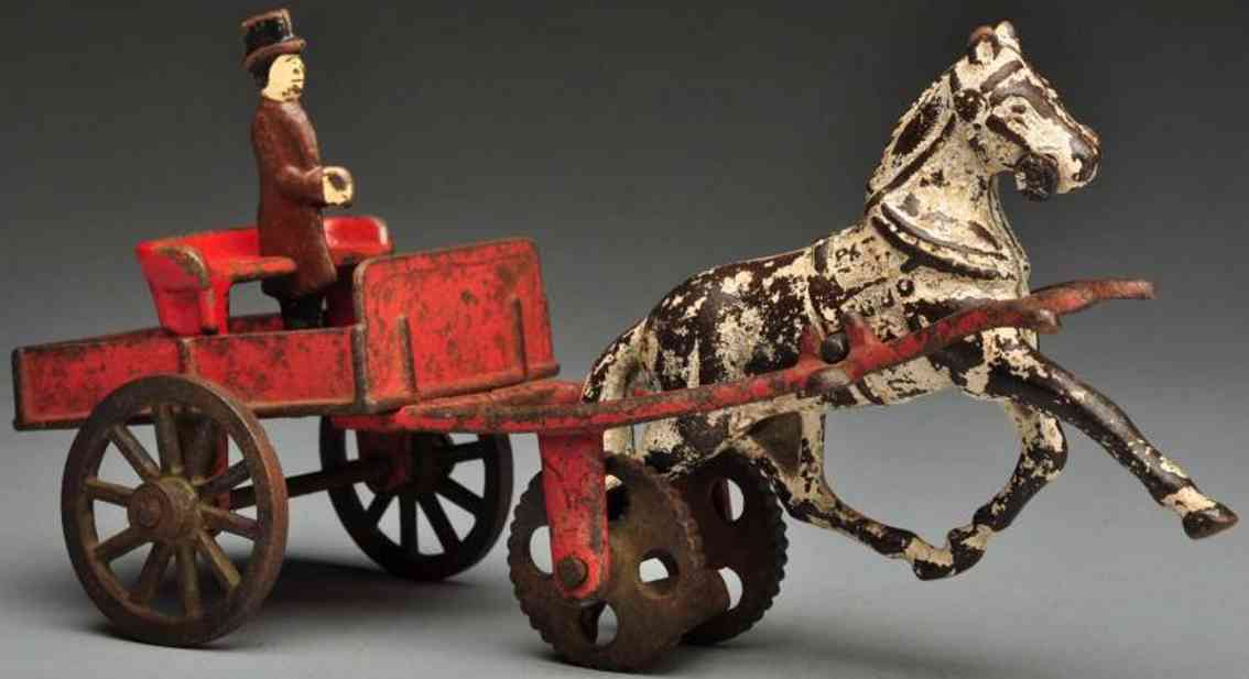 carpenter cast iron doctors cart horse-drawn toy