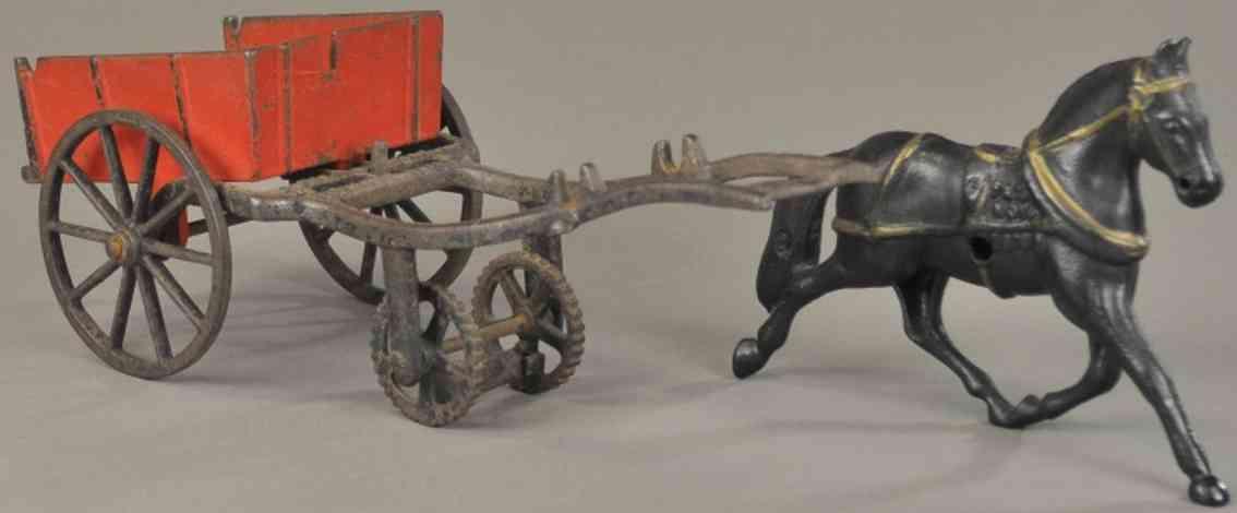 carpenter spielzeug gusseisen kippkutsche ein pferd