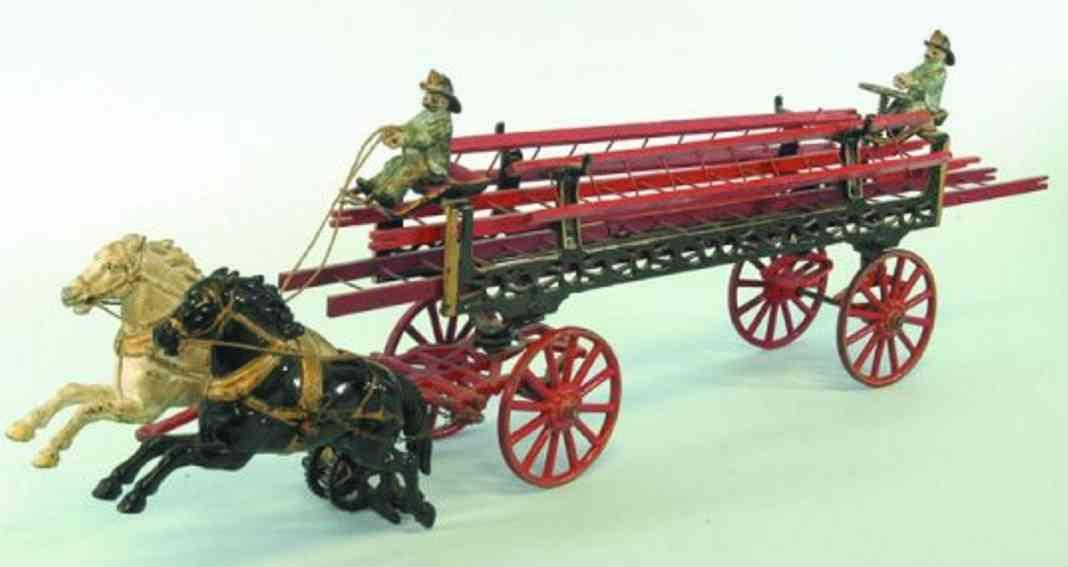 carpenter spielzeug gusseisen leiterwagenkutsche mit zwei pferden