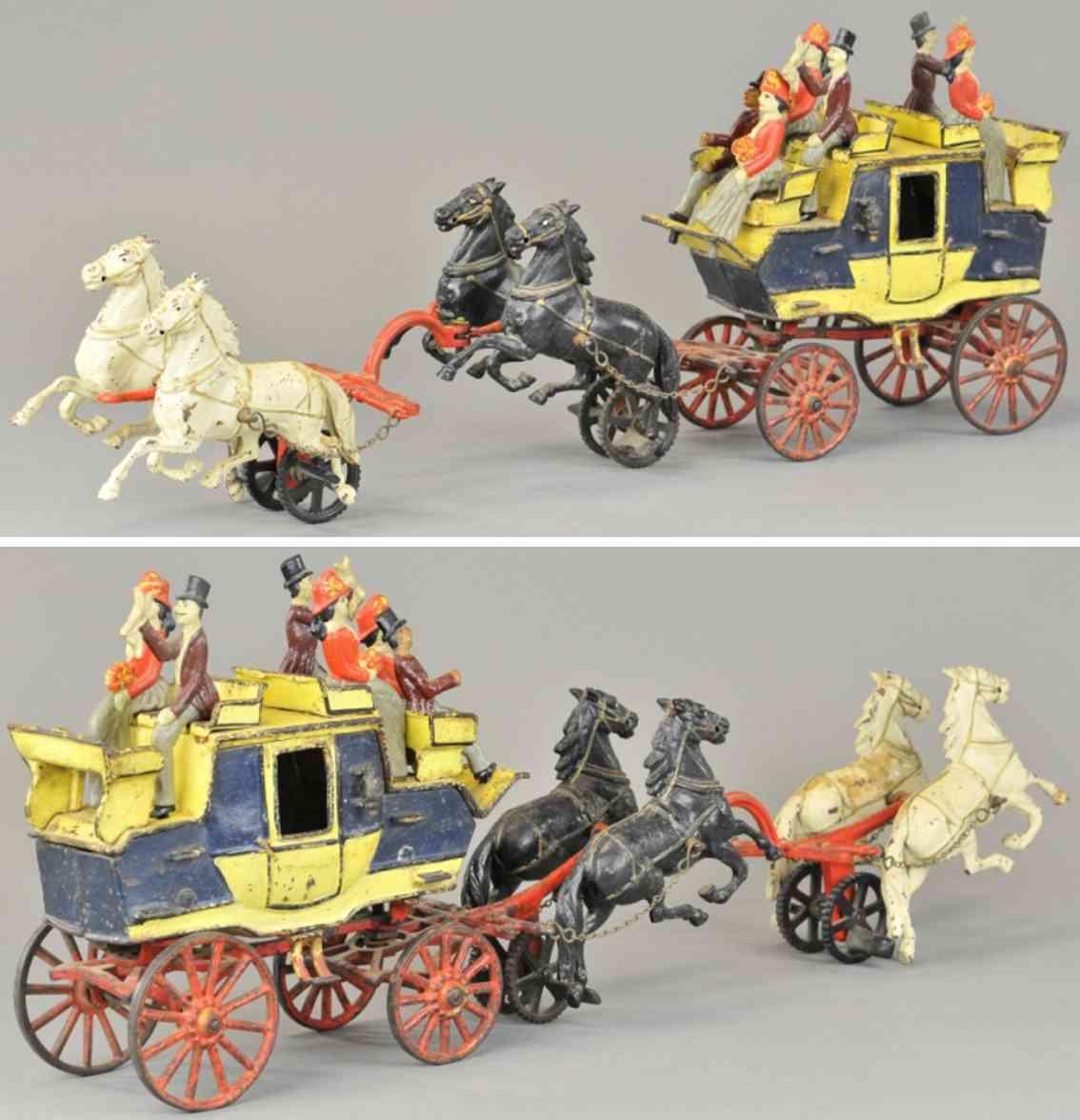 carpenter spielzeug gusseisen tally ho kutsche vier pferde