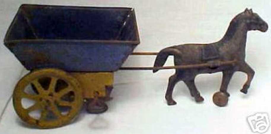 carter tin toy coach donkey cart