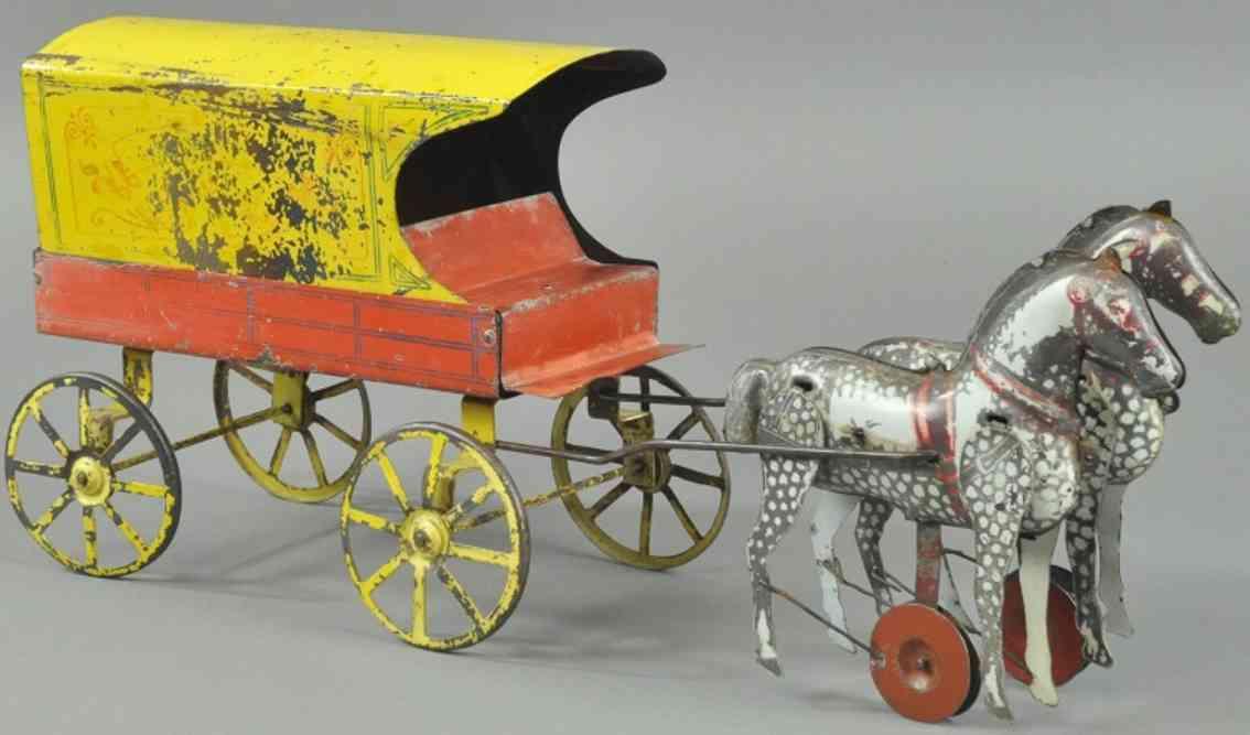 converse morton e tin toy coach ice wagon two horses