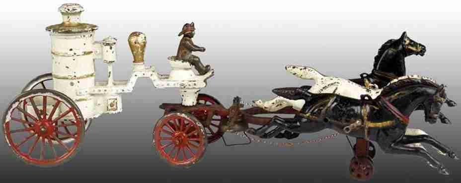 dent hardware co 1 horse cast iron toy coh fire pumper