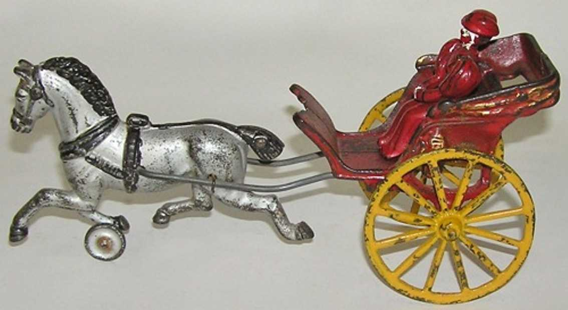 Dent Hardware Co Pferdkarre mit Frau als Fahrerein