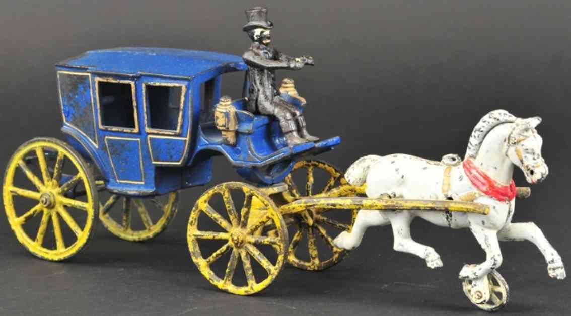 dent hardware co spielzeug gusseisen einspanner kutsche blau ein pferd