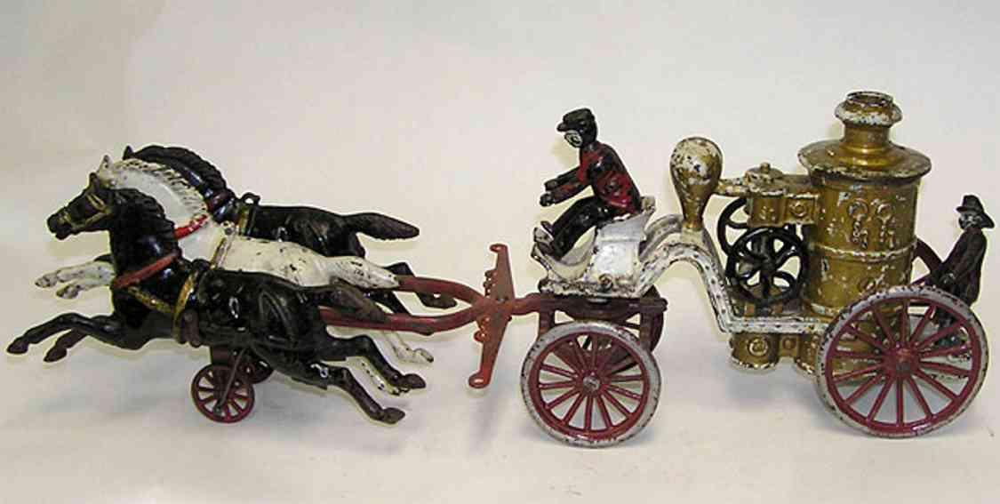 dent hardware co gusseisen feuer-pumpenwagen mit 3 pferden