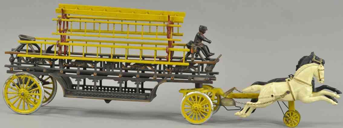 dent hardware co spielzeug gusseisen leiterwagen haken zwei pferde