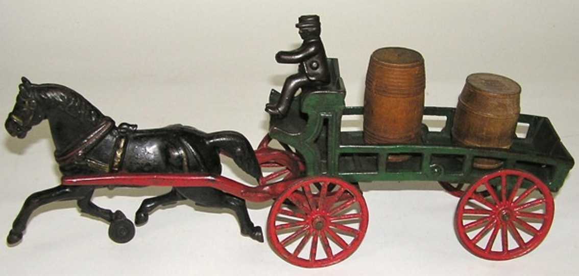 Dent Hardware Co One-horse farm dray stake wagon cart with driver