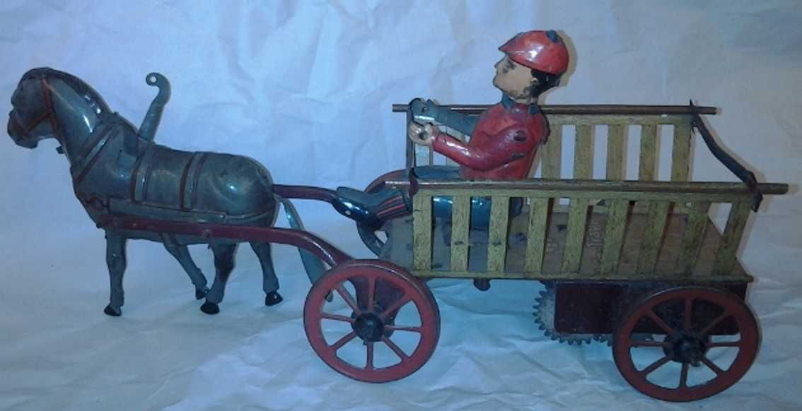 eberl hans tin wind up toy trip trapp barrow horse driver