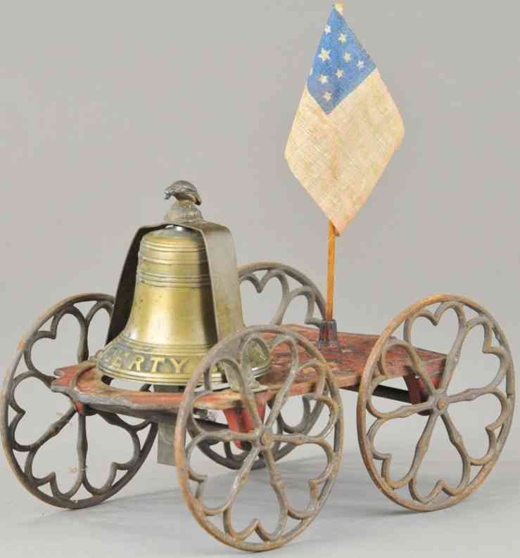enterprise manufacturing co cast iron old liberty centennial bell toy