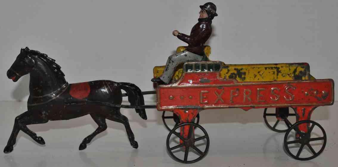 Fallows Kutsche mit Pferd und Kutscher
