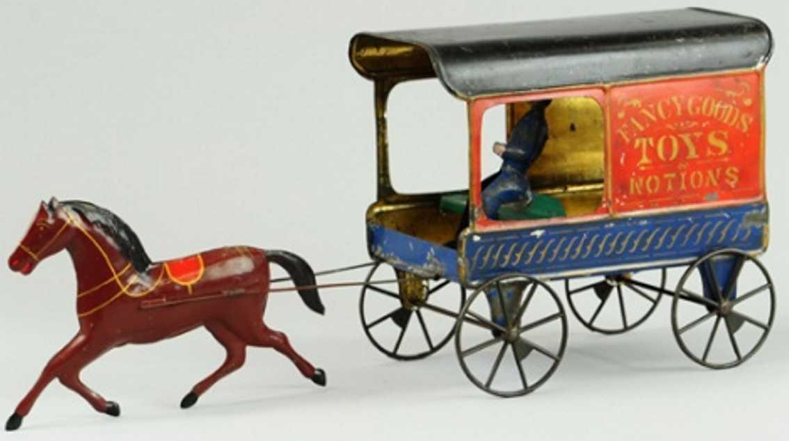 fallows blech spielzeug kutsche toys & notions lieferkutsche ein braunes pferd