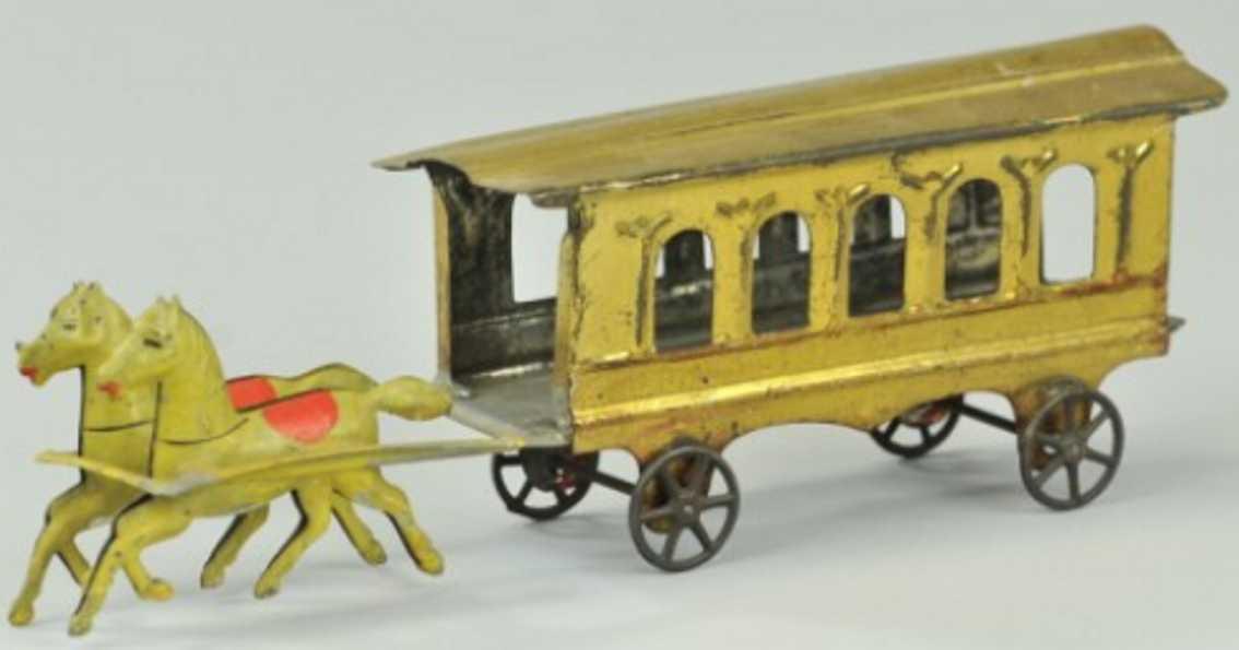 Fallows Kutschenwagen mit zwei Pferden Philadelphia