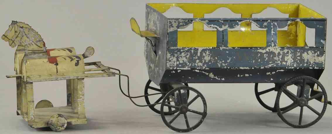 francis field and francis blech spielzeug kutche zwei pferde als omnibus