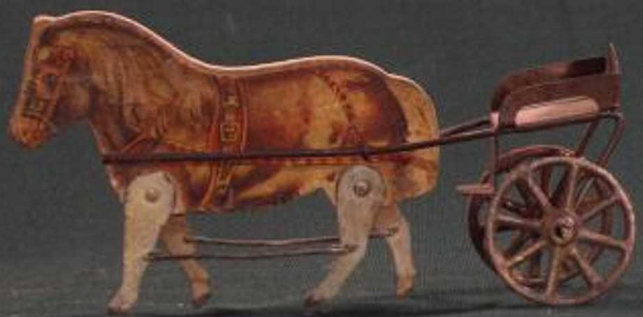 gibbs blech spielzeug kutsche kutsche mit pony