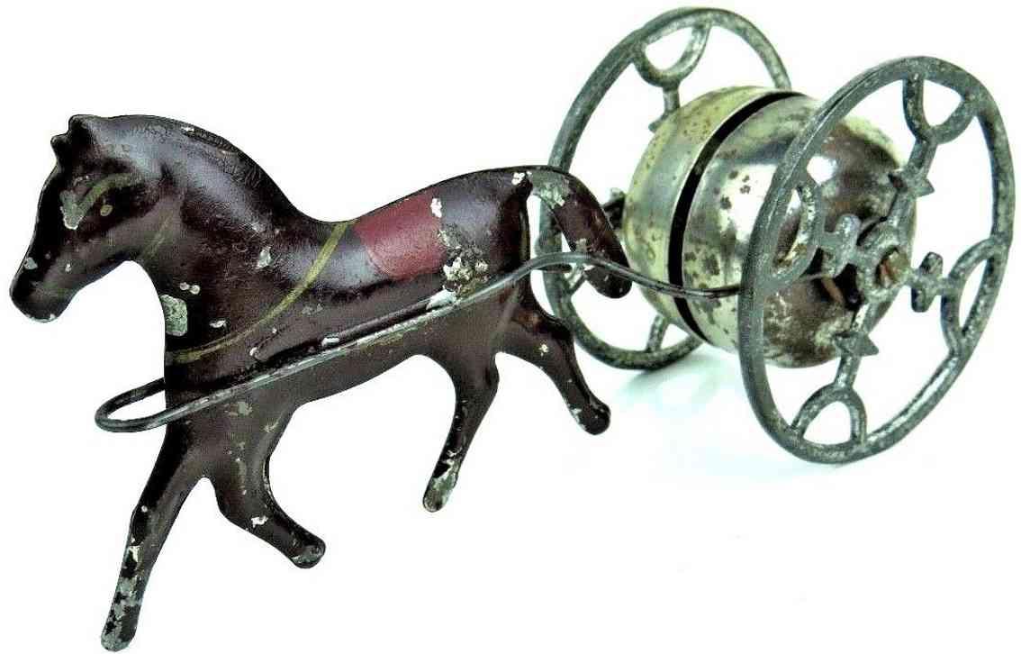gong bell 77 spielzeug gusseisen pferd mit sich drehendem glockenspiel