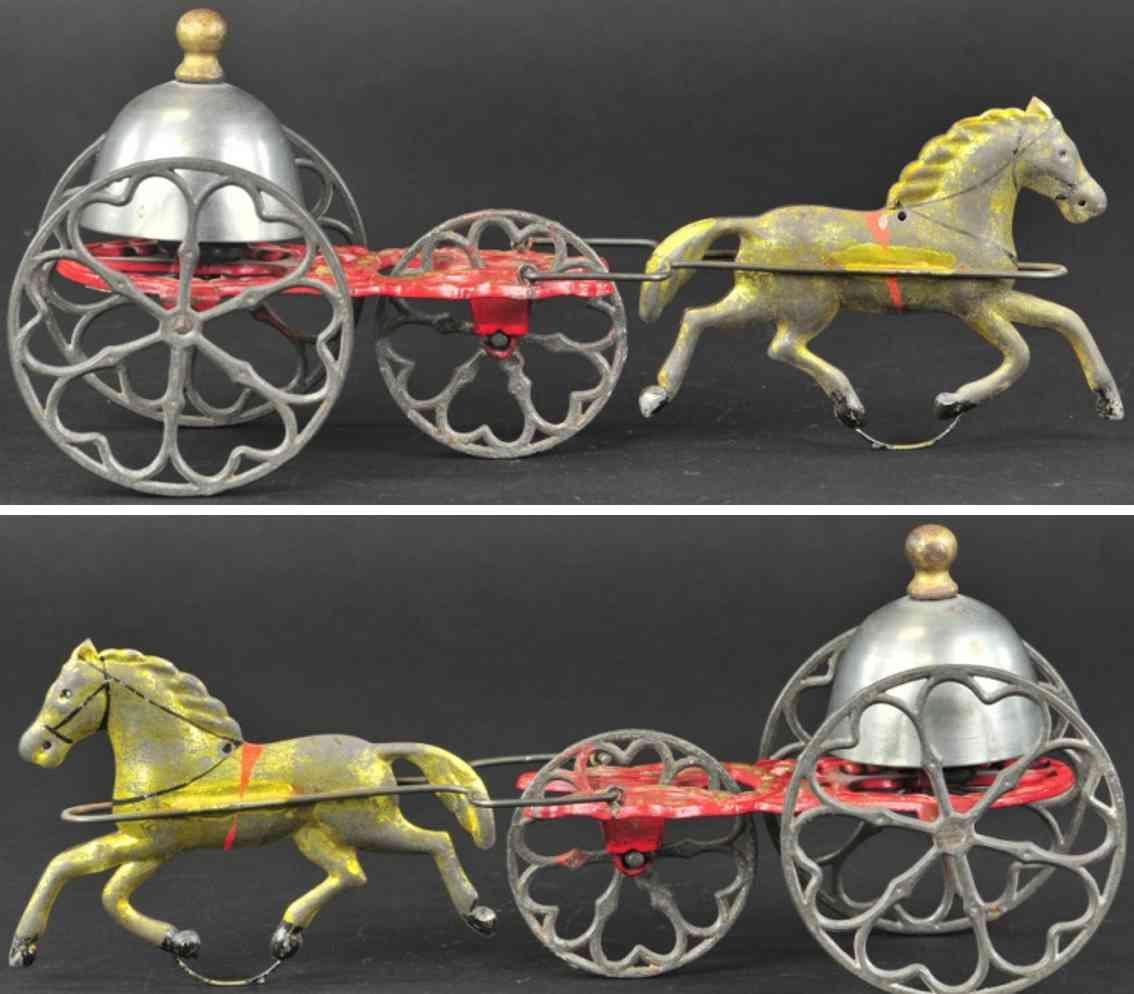 gong bell gusseisen kuppelglocke ein pferd glockenspielzeug
