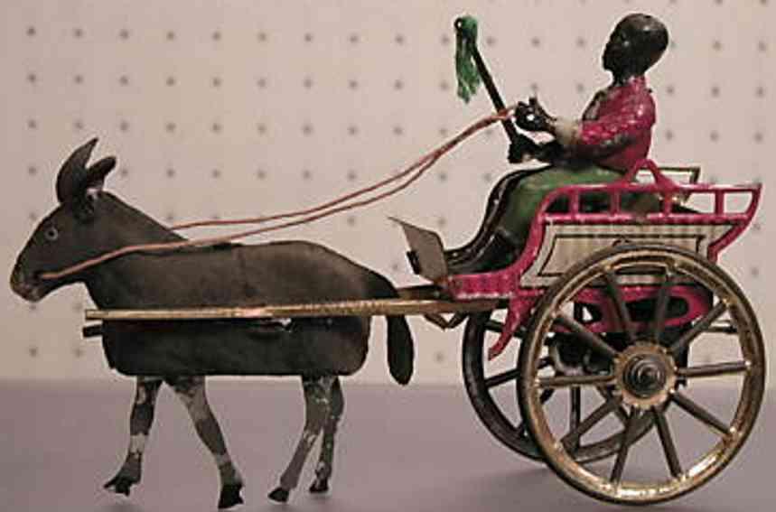 gunthermann tin toy coach coach donkey