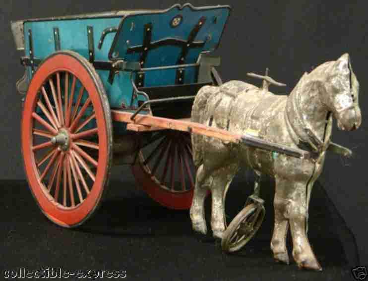 guenthermann blech spielzeug kutsche pferd uhrwerk