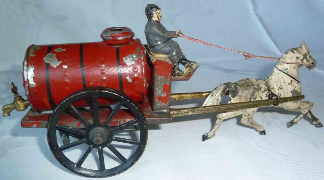 gunthermann tin toy coach fire brigade tank car clockwork